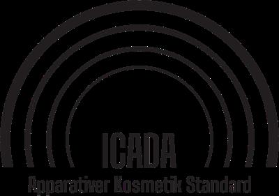 ICADA -Qualitätssiegel des deutsche Gerätestandards für apparative Kosmetik.